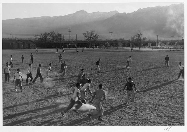 Football Manzanar